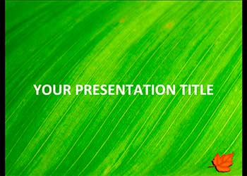 Green Leaf free template for presentations